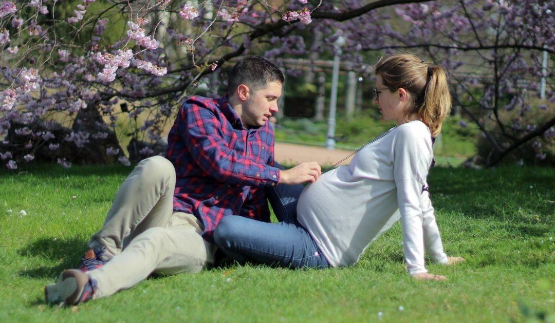 Shooting grossesse au parc de la Tête d'Or