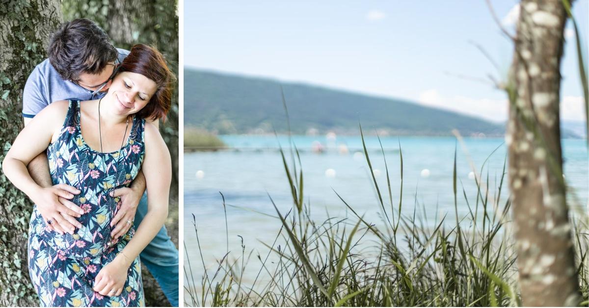 Diptyque portrait couple Lac d'Annecy