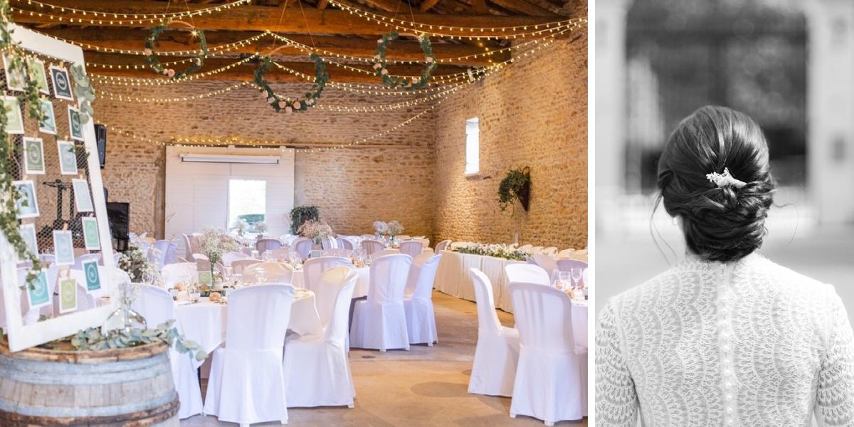 Mariage Lyon diptyque décoration - coiffure mariée