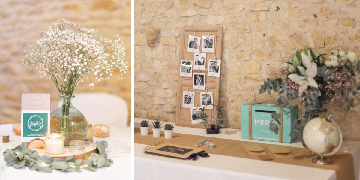 Mariage Lyon diptyque centre de table - décoration