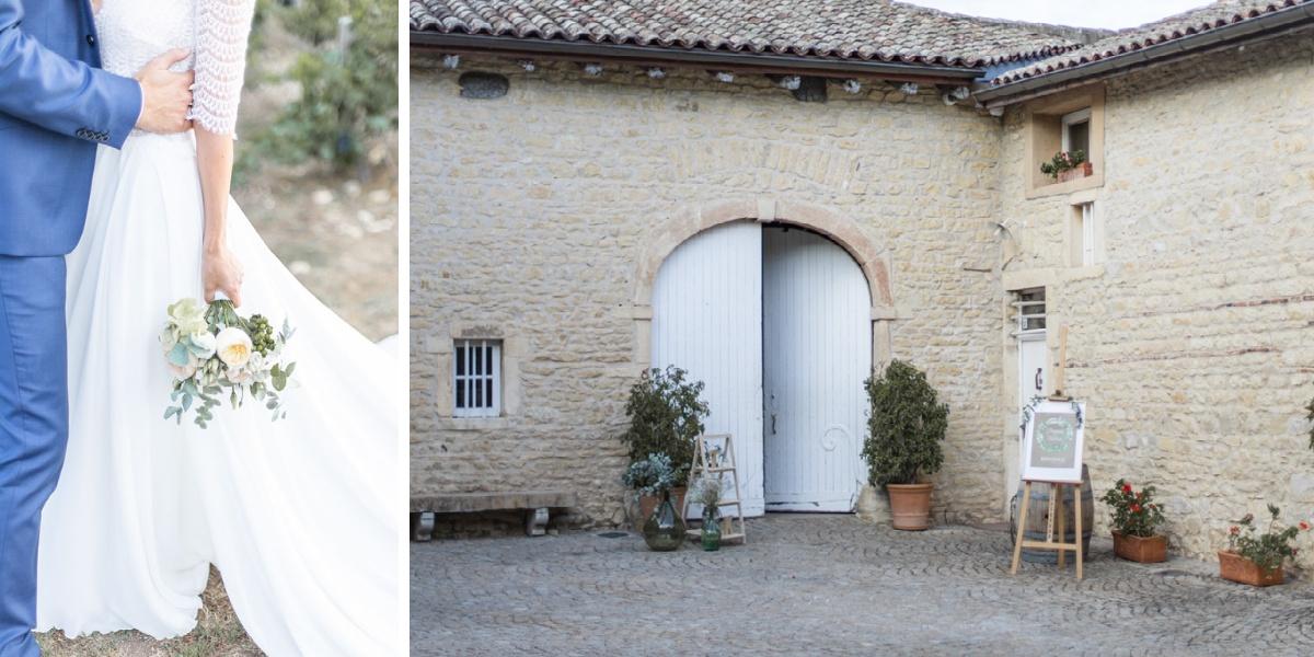 Mariage Lyon Diptyque robe de mariée - domaine